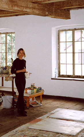 Jan as visiting artist - studio of Pepo Pichler